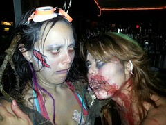 Adrienne & Cindy (Rory Llowarch) Tags: girls party woman hot sexy paint adult zombie chicks fantasyfest facepaint zombies hotgirls sexygirls fancydress costumeparty hotchicks hotwoman sexywoman sexychicks adultparty zombiegirls keywestfantasyfest adulthalloween fantasyfestkeywest