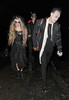Chloe Moretz leaving a Halloween party held at the home of television presenter Jonathan Ross. London, England