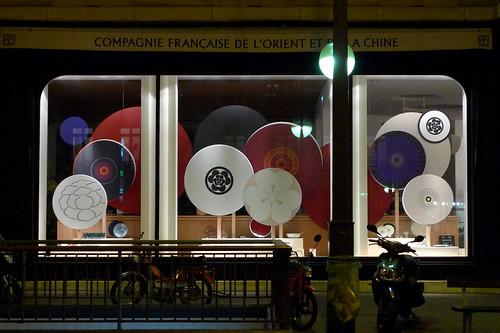 Vitrines de la Compagnie Française de l'Orient et de la Chine (CFOC) par Stéphanie Moisan - Paris, septembre 2012