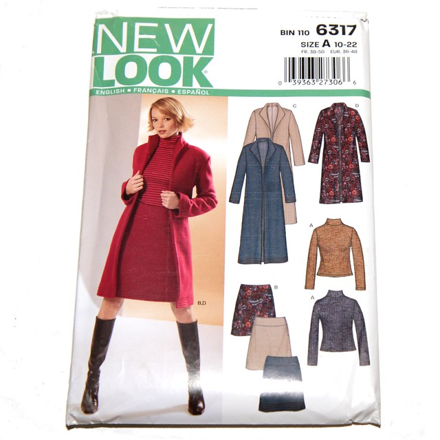 New Look vintage sewing pattern 6317 – jacket – size 10-22