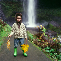 He'll thank me for photos like this someday, I'm sure of it (Zeb Andrews) Tags: portrait film oregon analog square child son hasselblad waterfalls birthdayboy pacificnorthwest owen columbiarivergorge hasselblad500c bluemooncamera lomocolor800film