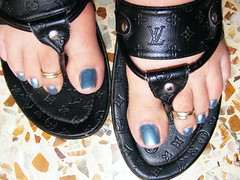 DSCF9935 (sandalman444) Tags: color male feet toes sandals nail polish mens pedicure toenails toerrings