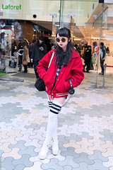 Harajuku Style (tokyofashion) Tags: street sunglasses fashion japan tokyo style snap jacket harajuku platforms laforet tubesocks stripedsocks 2013