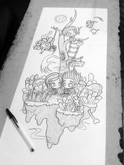 0WIP Paranorman/Coraline/Laika02pc (Anita Mejia) Tags: black illustration pen ink neil norman laika ilustracion bic coraline chocolatita wybie anitameja paranorman