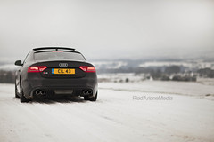 Audi S5 in the snow (Riad Ariane) Tags: snow car audi s5