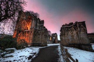 St Mary's Abbey on a winter's morning