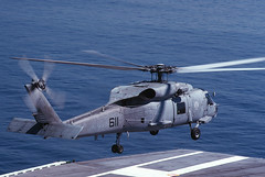 164617_233 (Mike Head -Jetwashphotos) Tags: summer usa sunlight sunshine america us navy sunny helicopter standby summertime usnavy usn carrier position flightdeck heli constellation cv64 sikorsky seahawk ditching launches sh60f 164617 sn701806 nf611 cv64constellation takingupposition