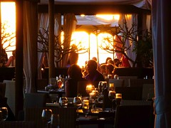 Happy Hour in the warm glow of the setting sun (peggyhr) Tags: sunset people waikiki royalhawaiian cabanas peggyhr p1320127ba