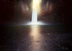 Abiqua calling (Zeb Andrews) Tags: longexposure film oregon analog landscape waterfall lofi pinhole pacificnorthwest adventures innova pinscape bluemooncamera abiquafalls woodencameras innova6x9