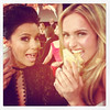 Hayden Panettiere Posted this image of herself and Eva Longoria on Twitter with the caption 'munchin on cookies with my girl @evalongoria'