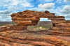 Nature's Window (roevin | Urban Capture) Tags: australia kalbarri westernaustralia natural rock formation arch nature national park natureswindow stone river landscape look through view erosion clouds blue sky window ☆thepowerofnow☆ gettypf