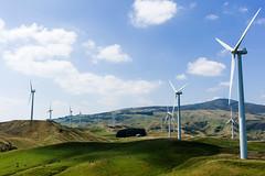 sentries (hoodoo youdo) Tags: leica blue newzealand sky green clouds 35mm landscape wind farm 14 rangefinder hills asph turbines m9 fle manawatu summiluxm alienskinexposure m9p