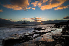 """Sr Mary's Lighthouse at Dawn with High Tide<br /><span style=""""font-size:0.8em;"""">Sunrise photoshoot at Old Hartley in Ian Purves' blog <a href=""""http://purves.net/?p=1070"""" rel=""""nofollow"""">purves.net/?p=1070</a></span> • <a style=""""font-size:0.8em;"""" href=""""https://www.flickr.com/photos/21540187@N07/8440346325/"""" target=""""_blank"""">View on Flickr</a>"""