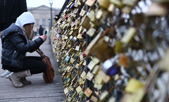 Locked in frame (ido1) Tags: bridge winter paris cold lock picture photograph hang