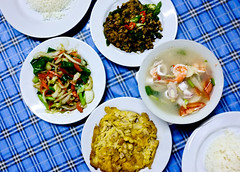 Dishes (yoononn) Tags: vegetables thailand pork thai kohsamui samui local taste dishes omelette tomyum tomyumgoong
