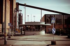 Main Gate & Checkpoint (Jori Samonen) Tags: hanasaari power plant powerplant main gate checkpoint street traffic signs trafficsigns helsinki finland