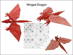 Winged dragon (Mdanger217) Tags: max danger winged dragon origami cp inkscape