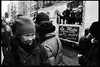 one day in chinatown (-{ ThusOriginal }-) Tags: 135 28mm bw blackandwhite city f3t film fujineopan1600 happy hat monochrome nyc people scarf street thusihaveseen winter thusoriginal newyork scan
