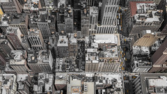 Hello. down there (kaifr) Tags: yellowcab roofs birdseyeview topdown city buildings taxi traffic streets newyork unitedstates us fromabove