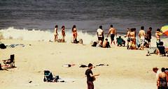 on the beach / cape henlopen delaware (bluebird87) Tags: women bikini dx0 c41 epson nikon f100 kodak ektar 100 cape henlopen delaware