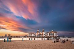 pier in wonderland (E.J.A. Photo) Tags: seebrcke sellin pier eveninglight abendlicht sonnenuntergang sunset inselrgen balticsea ostsee long exposure sand strand strandkorb beach