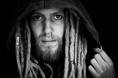 ME! (mion.danny) Tags: me dreadlocks dreads dark selfi thenederlands blond bw portrait self follow explore black white monochrome hippie 2016 beard men flickr