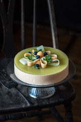 Double Melon Mousse Cake (Urban Kitchen Affair) Tags: cake mousse food dessert sweet melon cantaloupe delicious moody darkphotography