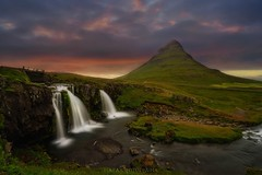 Overcoming obstacles (Blai Figueras) Tags: atmosphere clouds iceland panorama flickr longexposure mountains sky cascada water sunset paraiso river paisaje atardecer rocks horizon agua cielo eden le landscape silkeffect rocas stones montaas