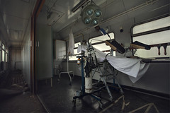 Hospital train (andre govia.) Tags: abandoned andregovia abandonedhospital abandonedasylum train decay decayed derelict decaying surgery operating creepy closed cinematic