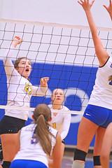 IMG_4513 (SJH Foto) Tags: girls volleyball high school lancaster mennonite pa pennsylvania team tween teen teenager varsity net battle spike block action shot jump midair