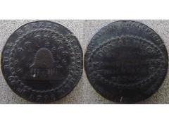 Halfpenny token 1792 (Baltimore Bob) Tags: coin money metal round conder token copper halfpenny england english british donaldco stocking manufacturers advertising nottingham birmingham beehive bee