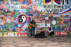 Prague: John Lennon Wall (romanboed) Tags: leica m 240 summilux 50 czech europe cesko czechia prague praha prag praag praga mala strana lesser quarter summer city cityscape street grafitti john lennon wall guitar player musician travel tourism