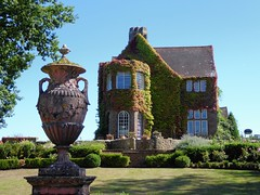 Knowle Grange (oh.suzannah) Tags: house urn ornamental ivy foliage garden