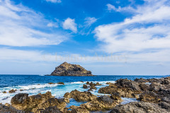 Little island (Ivanov Andrey) Tags: sea island ocean coast stone sky beach water air bay beauty blue cape cliff cloud explore harbour horizon journey landscape nature vista shore walk travel wave weather white wind tide lowtide tenerife spain