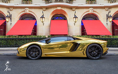 Gold car (Succs Photo) Tags: gold car paris france lamborghini aventador lp lp7004 or