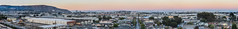tanforan sunset panorama (pbo31) Tags: sanfrancisco california evening bayarea nikon d810 color september 2016 summer boury pbo31 sanbruno sanmateocounty panorama large stitched panoramic over industrial city sunset view rooftops sanbrunomountain southsanfrancisco sfo runway airport orange