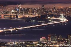 The City by the Bay (marq4porsche) Tags: san francisco bay bridge emeryville california ca light streaks city lights urban cityscape landscape treasure island skyscrapers canon eos 6d ef 100400l lens marquishoughton