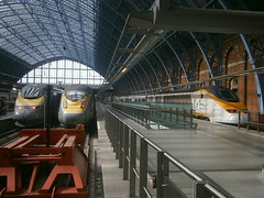373212, 373107 and 374011 @ London St Pancras International (ianjpoole) Tags: eurostar 373212 374011 working train 9i41 bruxelles midi london st pancras interational 9o40 international paris nord 9o44