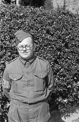 Llandyssil Home Guard (Montgomeryshire) after a Church Parade at Llandyssil Parish Church (1501745) (LlGC ~ NLW) Tags: cymru wales llyfrgellgenedlaetholcymru nationallibraryofwales charlesgeoff19092002 negyddffilm filmnegatives homeguard llandyssil army uniform