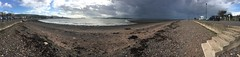 269 - incoming squall (md93) Tags: largs panorama clyde beach sea storm squall rain sun wind promenade seaweed town scotland ayrshire 366 pebbles