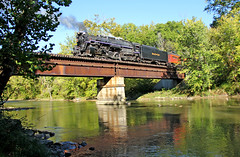 NKP 767 Crosses the Cuyahoga (craigsanders429) Tags: nkp767 nickelplate767 nickelplateroad767 rivers cuyahogariver cuyahogavalleyscenicrailroad cuyahogavalleynationalpark steamlocomotives steamtrains steamexcursions steamtrain steamonthecvsr nkp765 nkp765oncvsr nickelplate765 nickelplateroad765