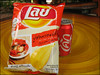 Thailand-ized Western Junk Food (suavehouse113) Tags: red food bag thailand tour coke can chips snack junkfood chiangmai cocacola lays potatochips philscamera thaiscript baiorchidandbutterflyfarm journeytours