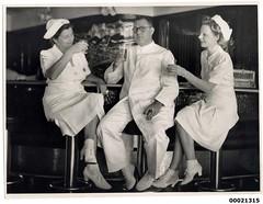 Unidentified medical personnel on board hospital ship TSS ORANJE II, June 1941