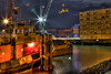 Loading the loot [Explored 14th Oct, 2012!] (Wameq R) Tags: bridge light cloud netherlands night star interestingness dock rotterdam ship cathedral crane fullmoon chef cube oil crate hdr willemsbrug dockyard cubehouses explored interestingness68 blinkagain me2youphotographylevel1
