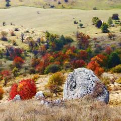 Radiša Živković  - Rider (Radisa Zivkovic) Tags: autumn red mountain fall nature rock rural square landscape countryside scenery europe fuji village serbia pasture rider srbija djake kursumlija selodjake sokolovvis