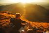 Golden moments (.:: Maya ::.) Tags: park sunset mountain man nature beauty trekking central bulgaria national hiker balkan природа планина залез българия стара връх балкан централен mayaeye mayakarkalicheva маякъркаличева жълтец