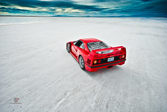 Ferrari F40 | Isolation (Folk|Photography) Tags: red photography utah desert folk rear salt automotive ferrari professional flats exotic gil supercar bonneville wendover f40 folk|photography