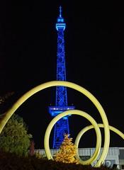 Funkturm (mr172) Tags: berlin festival night deutschland lights nacht sony illumination sigma blau 1770 messe funkturm 2012 charlottenburg slta55