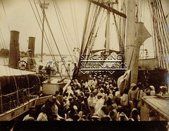 Schip met Brits-Indische emigranten