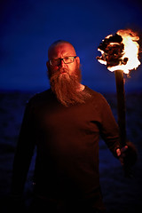Snbjrn (LalliSig) Tags: blue red portrait people orange rock night dark fire iceland photos band flame torch portraiture after viking sklmld